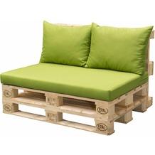 doppler Palettenkissen HIT 1x Sitz ca. 120x80x10 cm, 2x Rückenkissen je ca. 60x45x12cm, D7836 fresh green