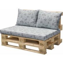 doppler Palettenkissen HIT 1x Sitz ca. 120x80x10 cm, 2x Rückenkissen je ca. 60x45x12cm, D9918