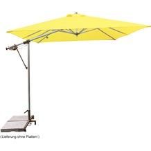 doppler Pendelschirm Sunline ca. 220x300/7tlg. D. 811 gelb, inkl. Ständer+Hülle Sonnenschirm