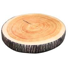 doppler Sitzkissen Holz Durchm. ca. 38cm x 6 cm, mit RV