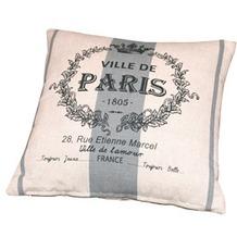 doppler Zierkissen ca. 40x40xca. 14cm D. 8993 Paris natur, verstürzt genäht, m. RV