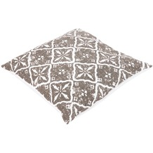 doppler Zierkissen ca. 45x45xca.14cm D. 9946 Sterne greige,verstürzt genäht, m. RV