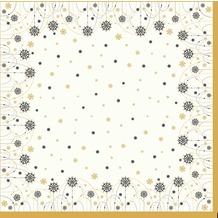 Duni Dunicel-Mitteldecken Snowflake Necklace White 84 x 84 cm 20 Stück