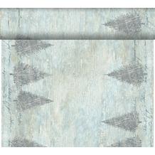 Duni Dunicel-Tischläufer Tête-à-Tête Blue Winter 24 m x 0,4 m (20 Abschnitte) 1 Stück