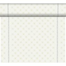 Duni Duni Dunicel-Tischläufer Tête-à-Tête Glitter White 24 m x 0,4 m (20 Abschnitte) 1 Stück