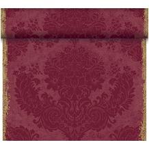 Duni Dunicel-Tischläufer Tête-à-Tête Royal Bordeaux, 40cm breit, perforiert 1 Stück