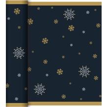 Duni Dunicel-Tischläufer Tête-à-Tête Snowflake Necklace Black 24 m x 0,4 m (20 Abschnitte) 1 Stück