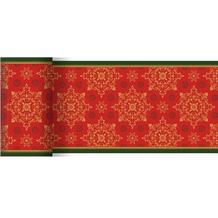 Duni Dunicel-Tischläufer Xmas Deco Red 20 m x 15 cm 1 Stück
