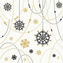 Duni Dunilin-Servietten Snowflake Necklace White 40 x 40 cm 1/4 Falz 50 Stück
