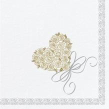 Duni Dunisoft-Servietten Heart 40 x 40 cm 60 Stück