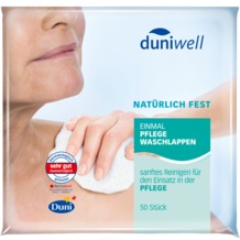 Duni Duniwell Einmal-Waschlappen Pflege 6-lagig weiß 20 x 20 cm 50 Stück