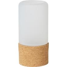 Duni Kerzenhalter für LED und Teelichte 140 x 70 mm Hope, frosted Glas mit Fuß aus Kork 1 Stück