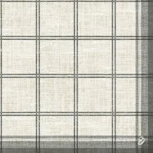 Duni Klassik-Servietten Motiv Linus Classic black 40x40 cm 4lagig, geprägt 1/4 Falz 50 St.