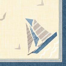 Duni Klassik-Servietten Seaway 40 x 40 cm 4lagig, geprägt, 1/4 Falz 50 Stück