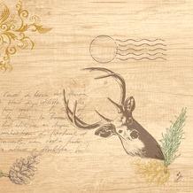 Duni Klassikservietten My Deer 40 x 40 cm 4-lagig, geprägt 1/4 Falz 50 Stück