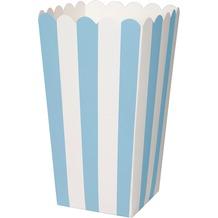 Duni Popcorntüte Pappe Blue Stripe 9 x 16 cm 6 St.