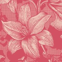 Duni Servietten 3-lagig Motiv Firenze Pink 24 x 24 cm 20 Stück
