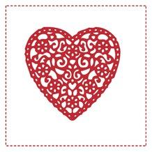 Duni Servietten 3-lagig Motiv Lace Heart 24 x 24 cm 20 Stück
