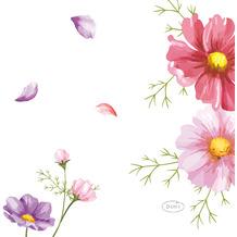 Duni Servietten Tissue Blooms 24 x 24 cm 20er