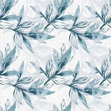 Duni Servietten Tissue Blue Leaves 33 x 33 cm 20er