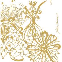 Duni Servietten Tissue Dolce Vita Gold 24 x 24 cm 20 Stück