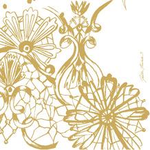 Duni Servietten Tissue Dolce Vita Gold 33 x 33 cm 20 Stück