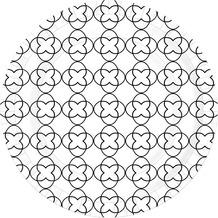 Duni Teller Motiv Sati White ø 22 cm 10 Stück