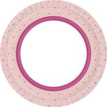 Duni Teller Pappe Rice Pink ø 22 cm 10er