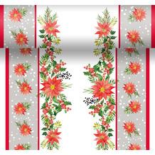Duni Tischläufer 3 in 1 Dunicel® X-Mas Flowers 0,4 x 4,80 m 1 Stück