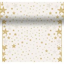 Duni Tischläufer 3 in 1 Shining Star Cream 0,4 x 4,8 m