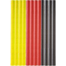 Duni Duni Trinkhalme Papier Schwarz, rot, gelb 15 cm 25er