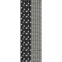 Duni Duni Trinkhalme Papier Schwarz & Weiß 20 cm 25er