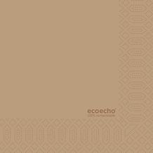 Duni Zelltuch-Serviette Motiv EcoEcho 33x33 cm 3lagig, 1/4 Falz 250 St.