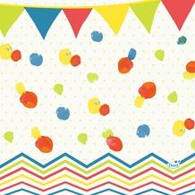 Duni Zelltuch-Serviette, Motiv Let's Party Flag 33x33 cm 250 St.