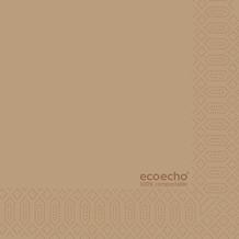 Duni Zelltuch-Serviette Uni EcoEcho 24x24 cm 2lagig, 1/4 Falz 300 St.