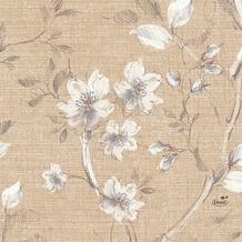 Duni Zelltuch-Servietten Floris 33x33 cm 3lagig, 1/4 Falz 50 Stück