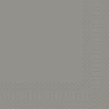 Duni Zelltuch-Servietten granite grey 33x33 cm 3lagig, 1/8 Kopffalz 250 Stück