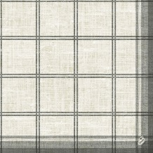 Duni Zelltuch-Servietten Motiv Linus Classic black 40x40 cm 3lagig, 1/4 Falz 250 St.