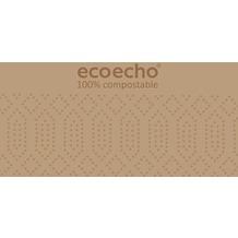 Duni Zelltuch-Servietten Uni EcoEcho 40x40 cm 2lagig, 1/8 BF 300 St.