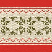 Duni Zelltuch-Servietten Urban Yule Red 24x24 cm 3lagig, 1/4 Falz 50 Stück