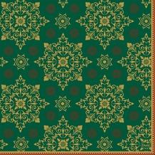 Duni Zelltuchservietten Xmas Deco Green 33 x 33 cm 3-lagig 1/4 Falz 50 Stück