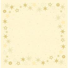 Duni Dunicel-Mitteldecken 84 x 84 cm Star Stories Cream, 20 Stück