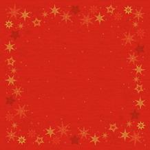 Duni Dunicel-Mitteldecken 84 x 84 cm Star Stories Red