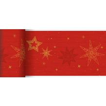 Duni Dunicel-Tischläufer 20 m x 15 cm Star Stories Red