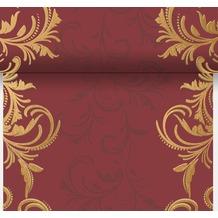 Duni Dunicel-Tischläufer 3 in 1, alle 40 cm perforiert, 0,4 x 4,80 m Grace Bordeaux