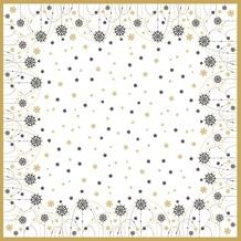 Duni Dunicel Mitteldecken Snow Necklace White 84 x 84 cm 1 Stück
