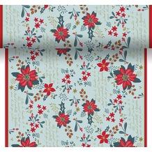 Duni Dunicel Tischläufer 3 in 1 Christmas Flower 0,4 x 4,8 m 1 Stück