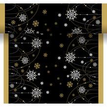 Duni Dunicel Tischläufer 3 in 1 Snow Necklace Black 0,4 x 4,8 m 1 Stück