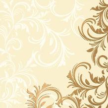 Duni Dunilin® Servietten 40 x 40 cm Grace Cream, 12 Stück
