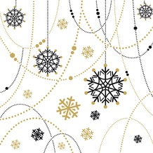 Duni Dunilin® Servietten Snow Necklace White 40 x 40 cm 12 Stück